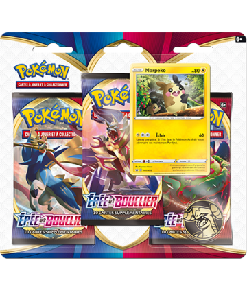 Pack 3 booster + 1 carte...